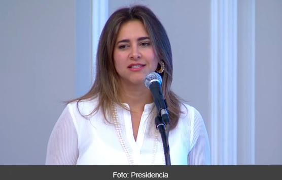Maria Juliana Ruiz en una intervencion