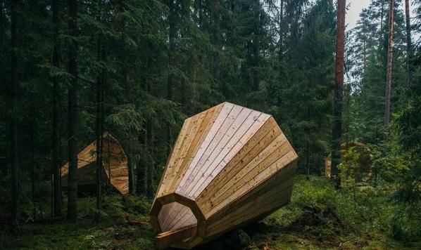 image for Estudiantes estonios construyen audífonos gigantes para escuchar al bosque
