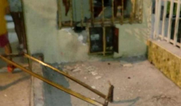 Area de afectacion en Armania despues de explosion