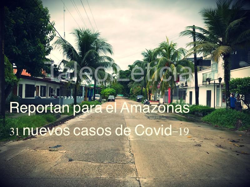 image for Reportan para el Amazonas 31casos nuevos de Covid-19