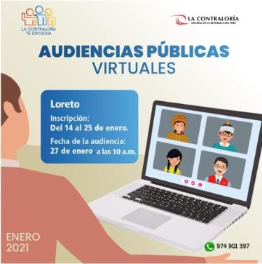 image for Contraloría te escucha | Audiencia Virtual