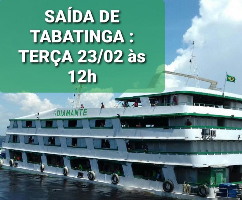 image for F/B DIAMANTE estará saindo hoje  de Tabatinga  às 12h
