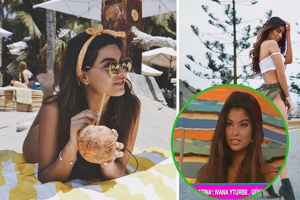 Ivana Yturbe en tres fotos en una sola