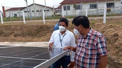 image for Director regional de Energía y Minas visita la planta de energía fotovoltaica