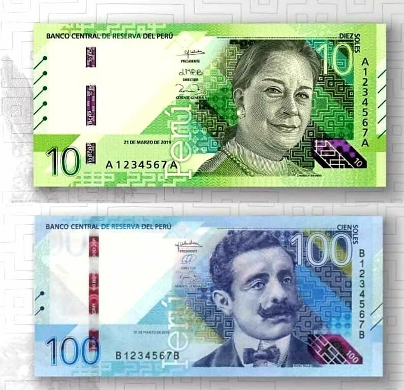 image for Nuevos billetes peruanos por motivo del Bicentenario