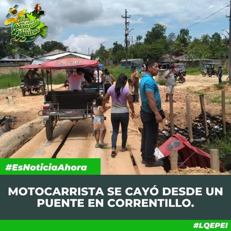 image for Motocarrista cae desde un puente en Correntillo