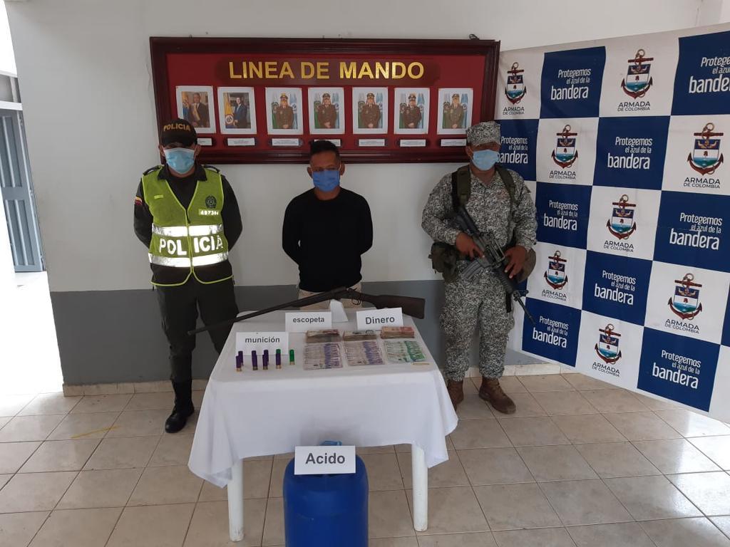 image for Capturado integrante de grupos armados organizados con dinero y armas