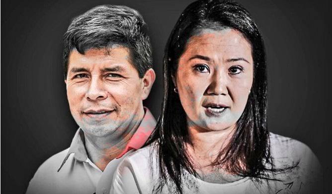 image for Pedro Castillo lidera la intención de voto con el a Keiko Fujimori