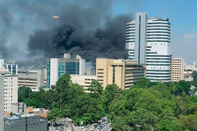 Incêndio em um hospital em São Paulo