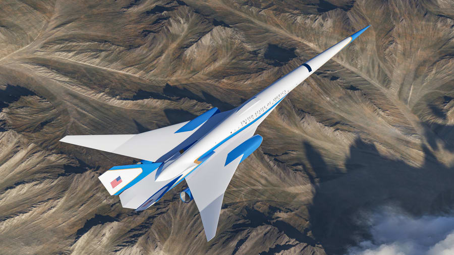 image for Desarrollo de un avión supersónico que podría usarse como Air Force One