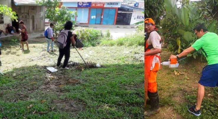 Personas en jornadas de limpieza comunitaria