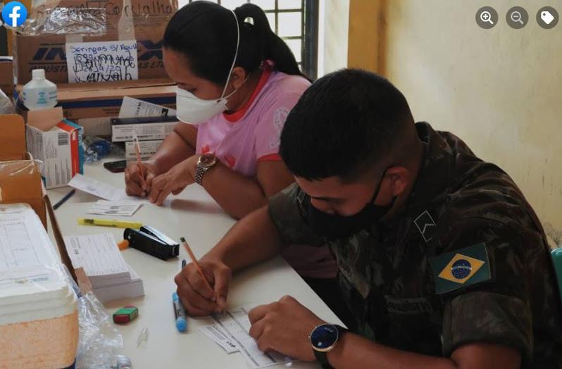 image for Comando Fronteira Solimões participa da campanha de vacinação