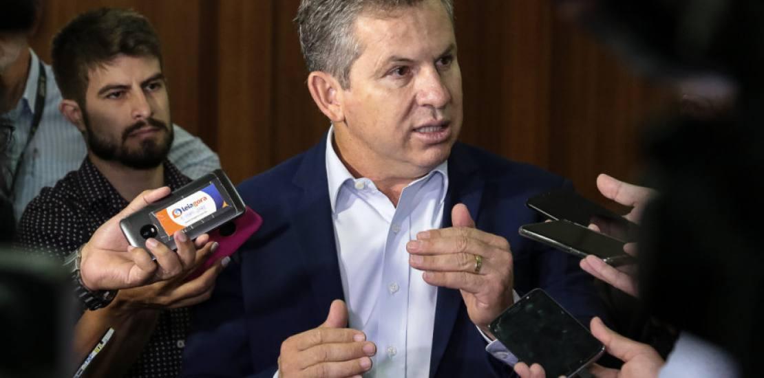 Governador de Mato Grosso na conferencia de imprensa