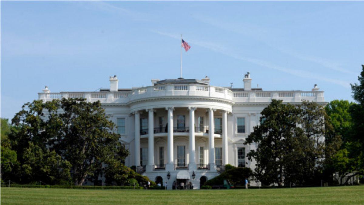 Frente de la casa Blanco en EE UU