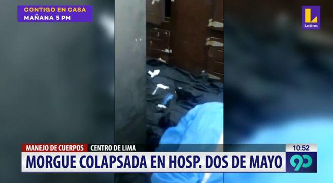 image for Hospital Dos de Mayo colapsa en su morgue