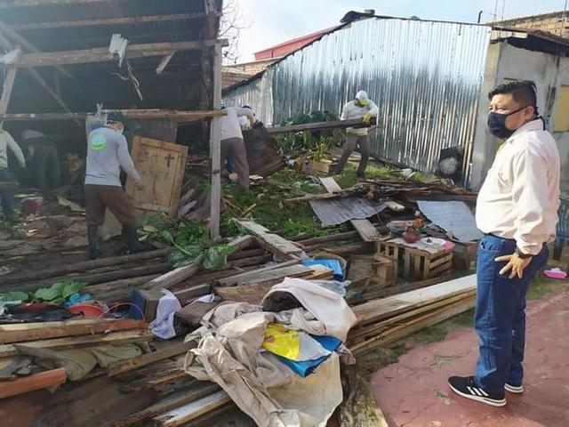 image for Casas afetadas por ventos fortes na cidade de Yurimaguas