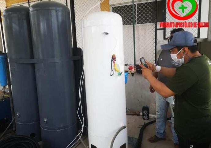 image for Primeras pruebas de la planta de oxígeno en nauta