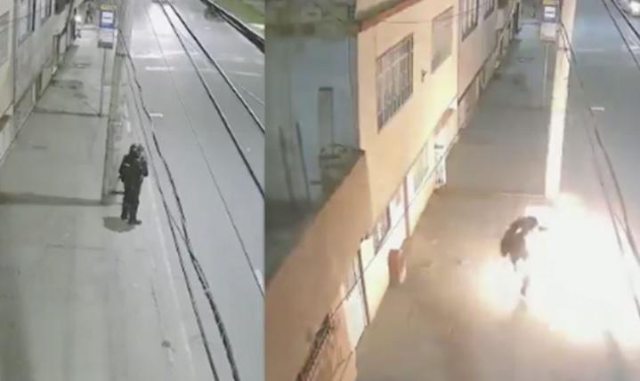 image for Cámaras de seguridad registran policía del ESMAD agredido