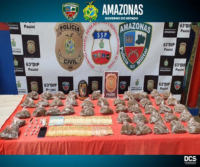 image for Polícia Militar detém jovem por tráfico de drogas em Pauini