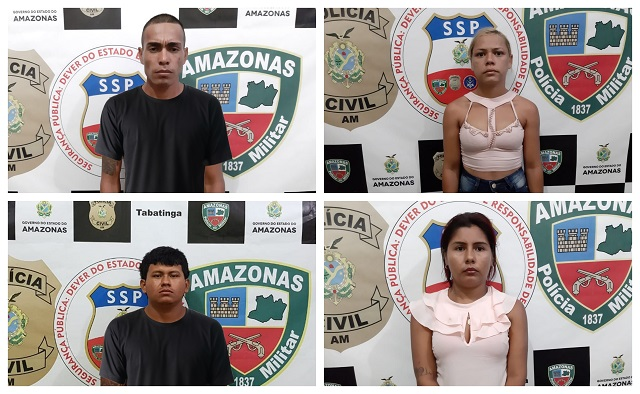 Quatro pessoas fotografadas em caso de homicídio