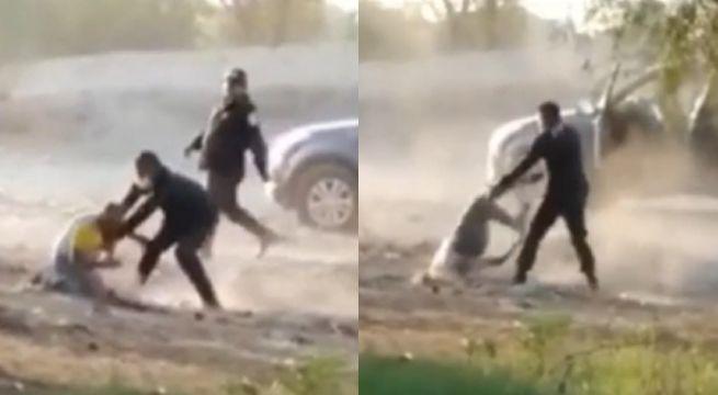 image for Policías son captados golpeando a dos personas
