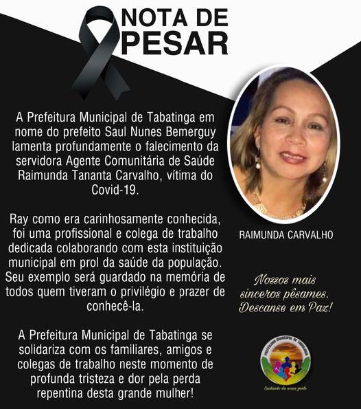 image for Prefeitura lamenta o falecimento da servidora Agente Comunitária de Saúde