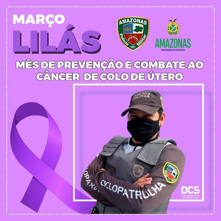 image for Polícia Militar participa de campanha 'Março Lilás' de combate ao câncer de colo uterino