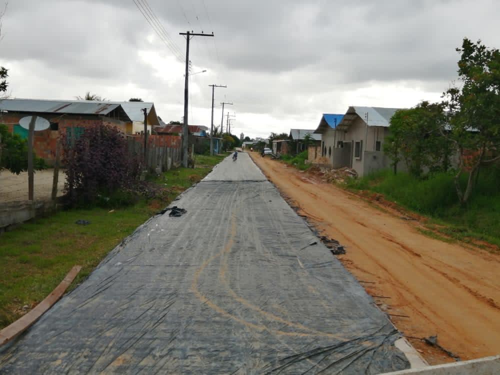 image for Iniciou mais uma obra de pavimentação em concreto armado