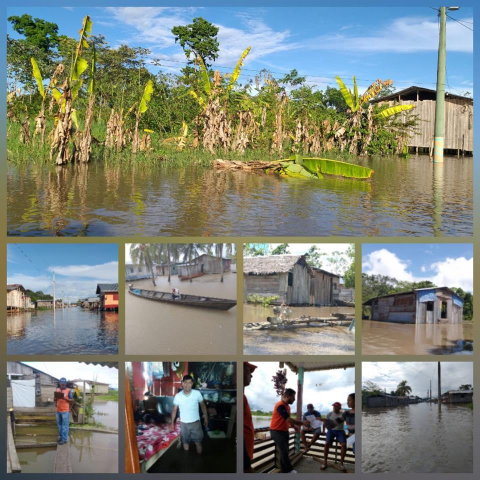 Varias imagens de inundacoes em tabatinga