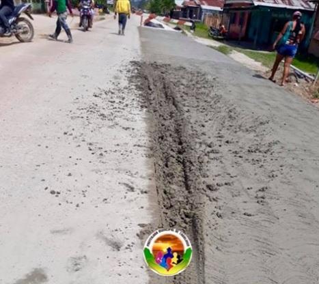 Rua de abatinga em obras civis