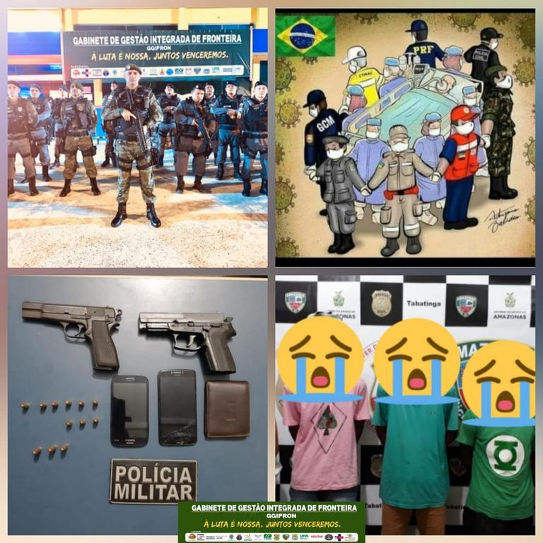 image for Policiais detém bando por posse de arma de fogo