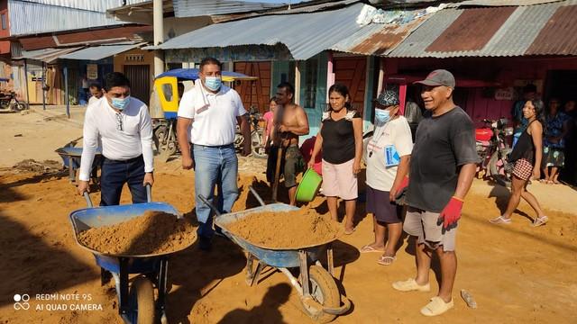 image for Exitosa minga comunal  en el distrito de San Juan Bautista