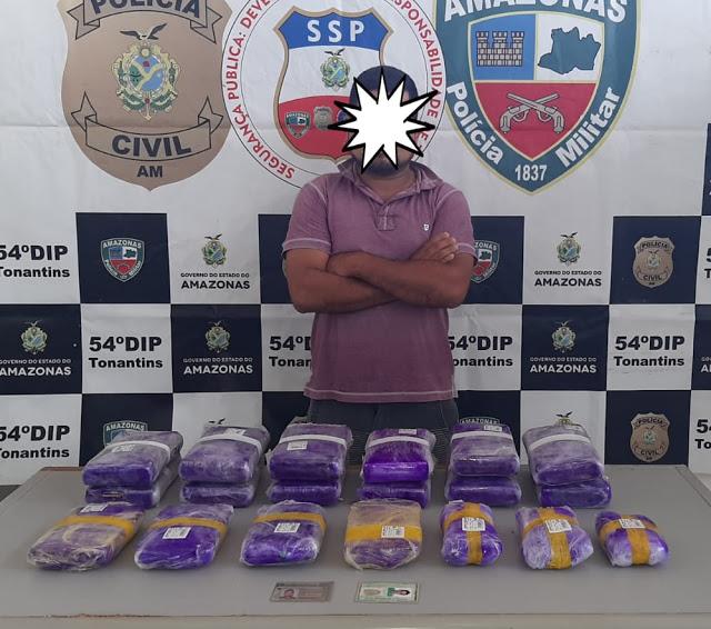 image for Homem é preso por tráfico de drogas em Tonatins