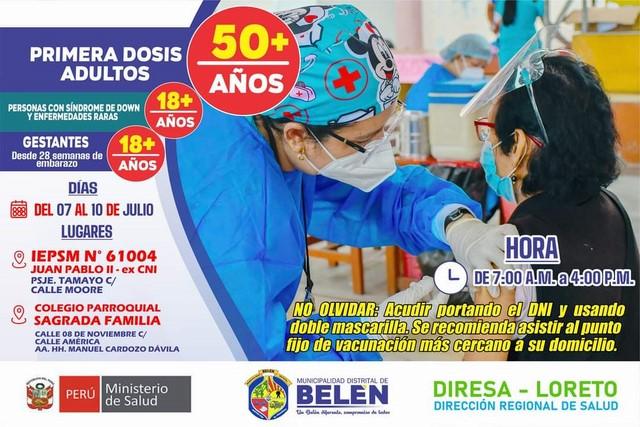 image for Municipalidad de Belén invita a toda la población a vacunarse