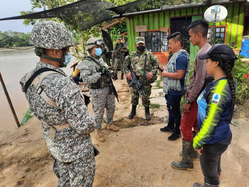 EJÉRCITO NACIONAL Y ARMADA DE COLOMBIA GARANTIZARON LA SEGURIDAD DE UN EXCOMBATIENTE EN EL PUTUMAYO