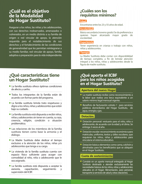 #ConvocatoriaICBF ¡BUSCAMOS FAMILIAS PARA HOGARES SUSTITUTOS DEL ICBF!