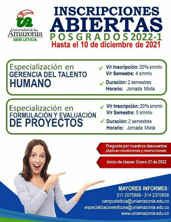 ABIERTAS INSCRIPCIONES PARA POSGRADOS 2022