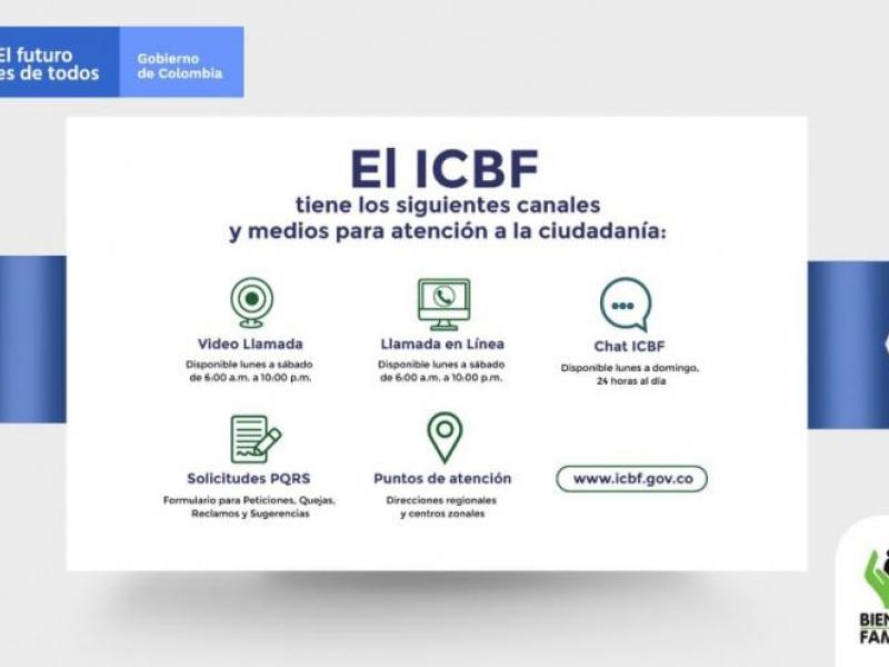 #ICBFesAmazonas | Canales de atención al ciudadano del ICBF