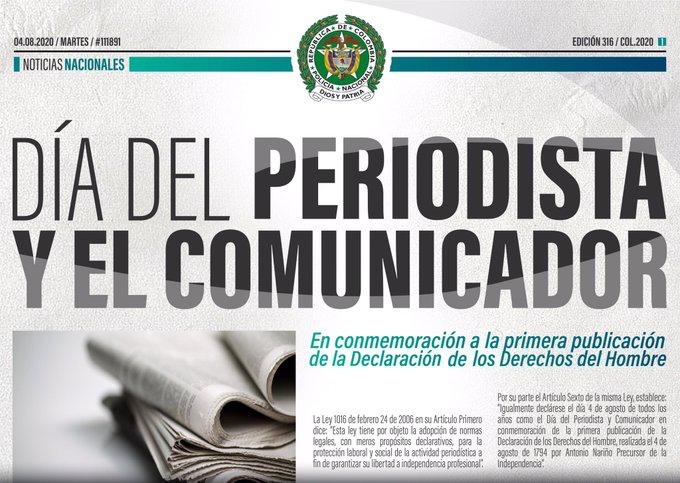 DÍA DEL PERIODISTA Y COMUNICADOR