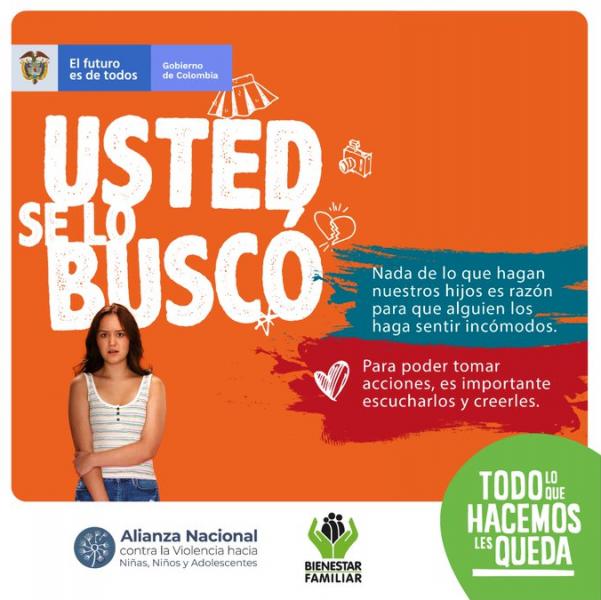 Con #TodoLesQueda, ICBF busca que los colombianos identifiquemos los tipos de violencia física, psicológica y sexual, a las que están expuestos los niños, niñas y adolescentes. Para originar un cambio cultural que nos lleve a decir: #MeSumoLosProtejo