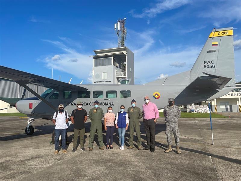 Apoyo aéreo permitió valoración de daño a infraestructura en el Amazonas