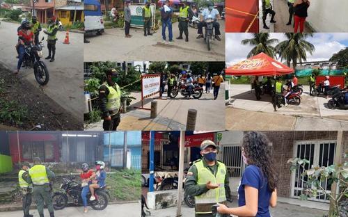 POLICÍA HACE LLAMADO A ACATAR LOS PROTOCOLOS DE BIOSEGURIDAD PARA CONTINUAR CON LA REDUCCIÓN DE CONTAGIOS POR COVID-19