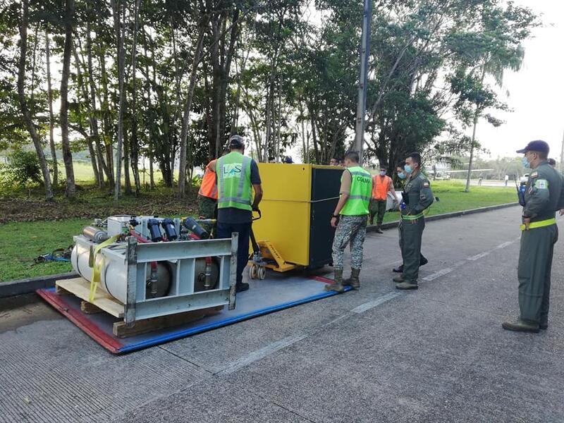 Transporte de elementos esenciales para el sector de la salud en el Amazonas, fue apoyado por la FAC