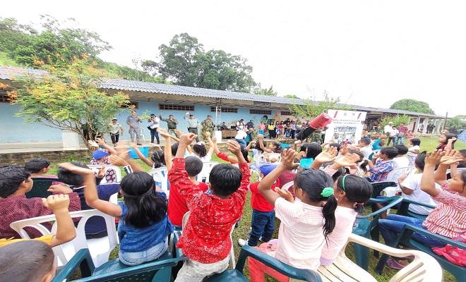CELEBRAMOS EL DÍA DE LA RAZA EN PTO. SANTANDER-AMAZONAS