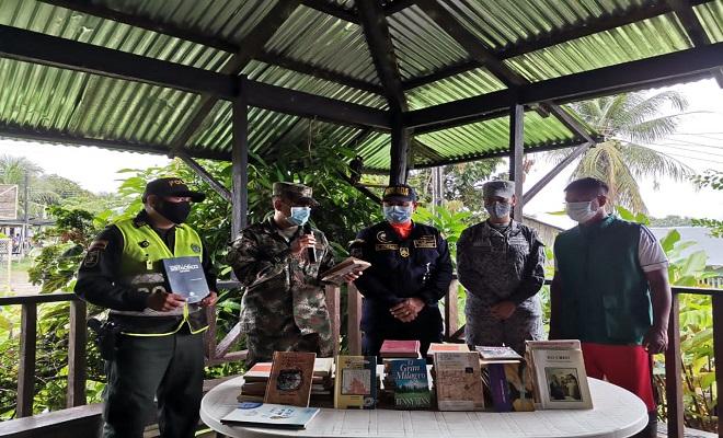 TRABAJO INTERINSTITUCIONAL ENTRE INDEPORTES AMAZONAS, FUERZAS ARMADAS Y POLICÍA EN LA COMUNIDAD INDÍGENA EL VERGEL