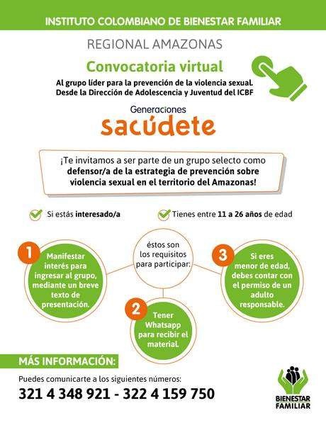 Convocatoria virtual - ICBF Amazonas
