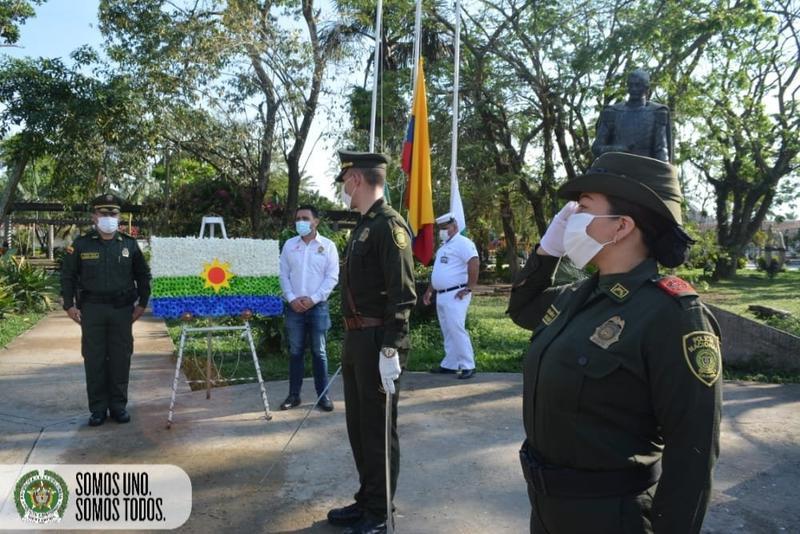 EN EL DÍA DE LA SOBERANÍA COLOMBIANA LA POLICÍA NACIONAL CON MEDIDAS DE SEGURIDAD INTENSIFICO CAMPAÑAS DE PREVENCIÓN.