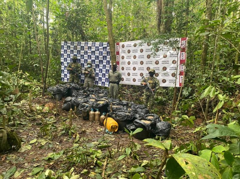 Fuerzas Militares neutralizaron dos toneladas de explosivos en Putumayo