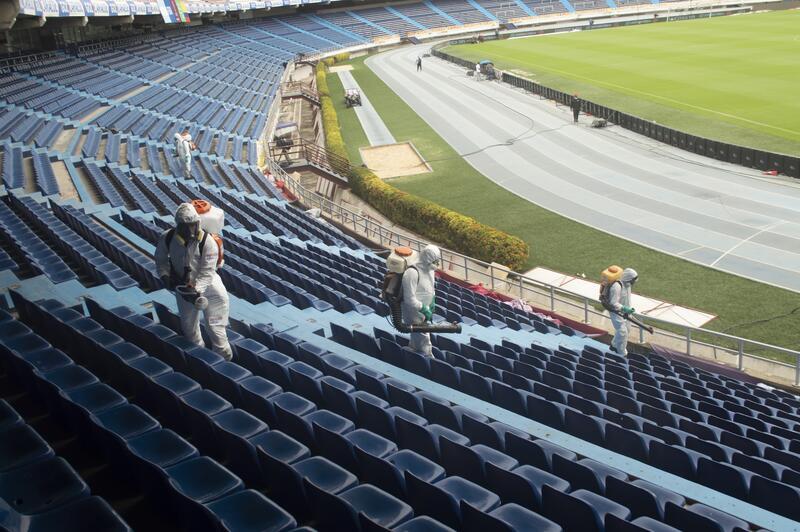 Nuevamente, Rentokil Initial preparó el Estadio Metropolitano de Barranquilla, con protocolos de bioseguridad para un partido del seleccionado nacional, como fue el encuentro Colombia vs. Chile