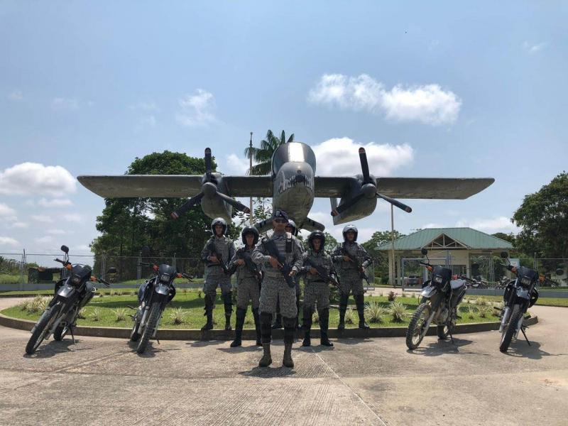 Con vigilancia aérea y terrestre su Fuerza Aérea garantiza la seguridad en el extremo sur del país
